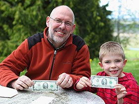 Curtis and Ed McDowell - Warm Beach Camp's youngest donor