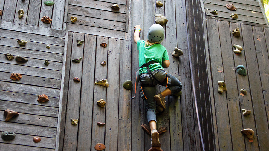 Climbing tower at Warm Beach Camp and Conference Center, Stanwood, WA; near Seattle.