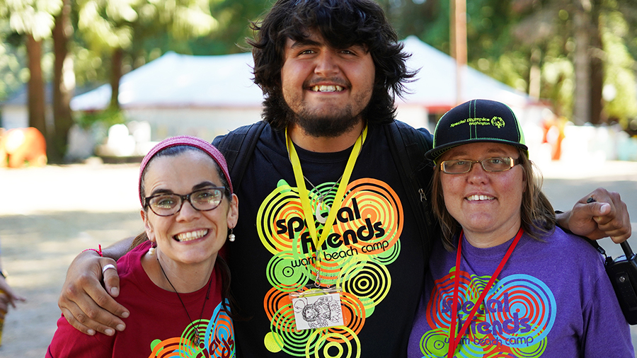 Special Friends, a summer camp for adults with special needs at Warm Beach Camp and Conference Center, Stanwood, WA; near Seattle.