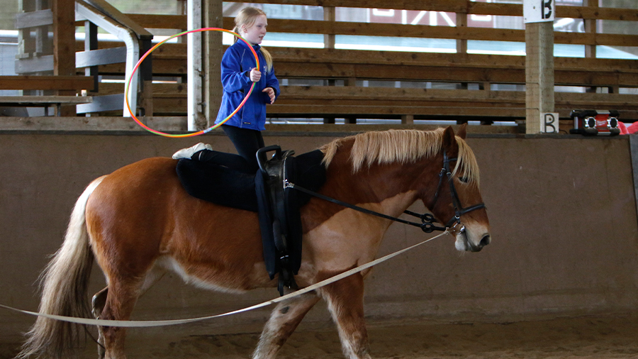 Therapeutic Horsemanship at Warm Beach Camp and Conference Center, Stanwood, WA; near Seattle.