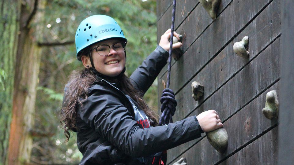 climb a 40 foot climbing tower