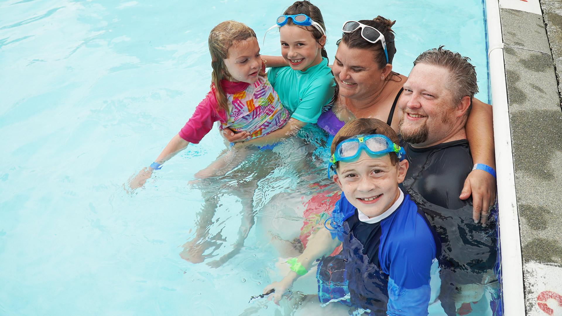 Swimming at Family Camp