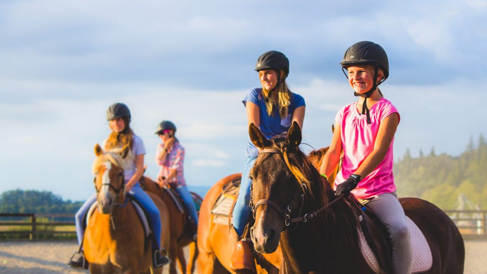 Horse Day Camp at Warm Beach Camp and Conference Center, Stanwood, WA; near Seattle.