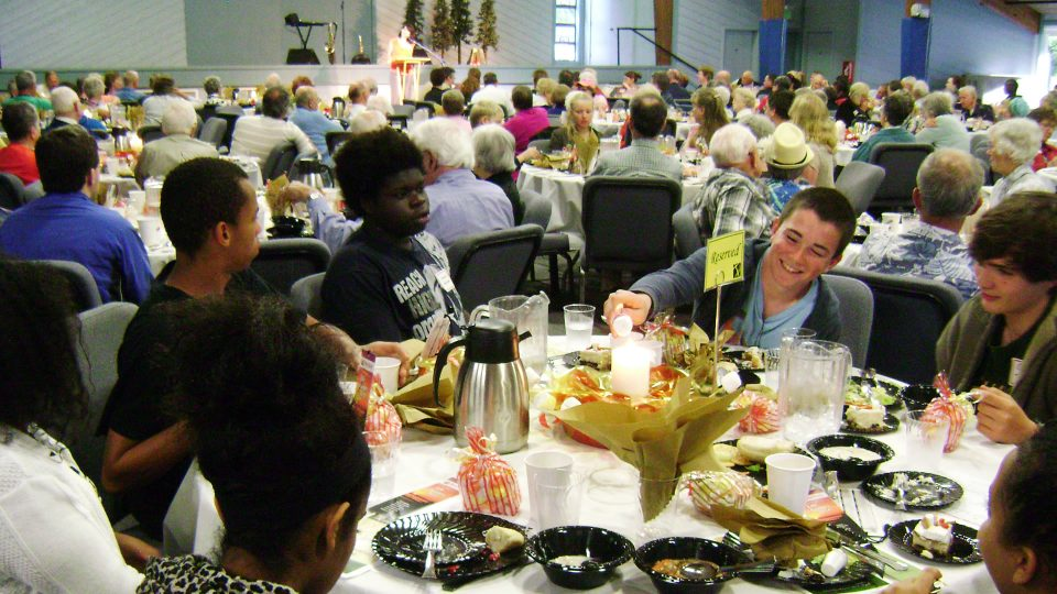 Partners in Ministry Appreciation Dinner at Warm Beach Camp and Conference Center, Stanwood, WA; near Seattle.