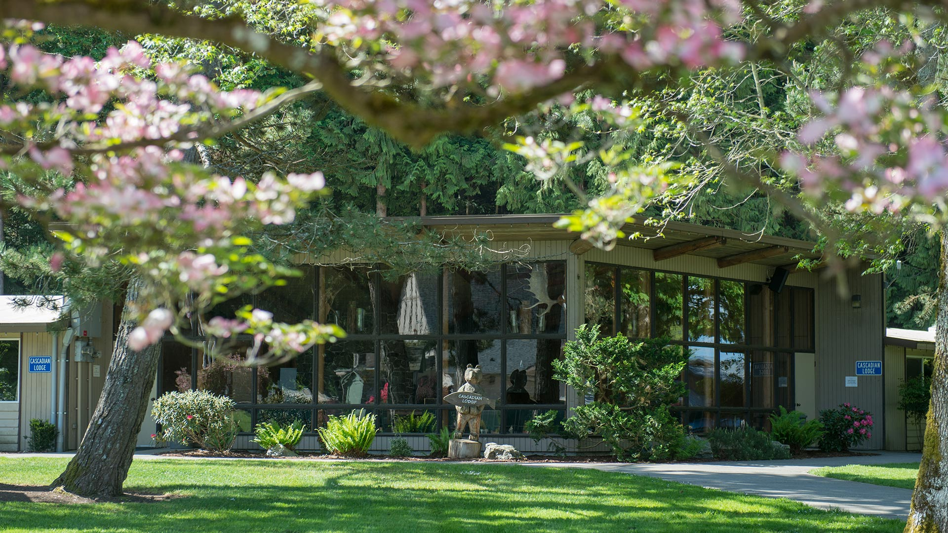 Lodging at Warm Beach Camp & Conference Center, Stanwood, WA, near Seattle.
