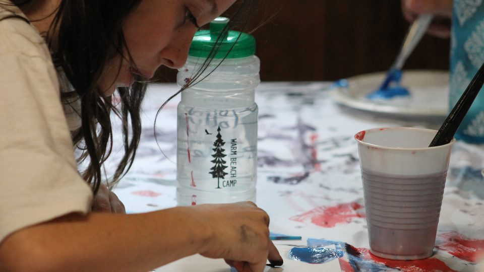 Summer day camp crafts at Warm Beach Camp & Conference Center in Stanwood, WA; near Seattle, WA.